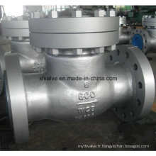 Valve de retenue à bride Wcb standard en acier au carbone ANSI