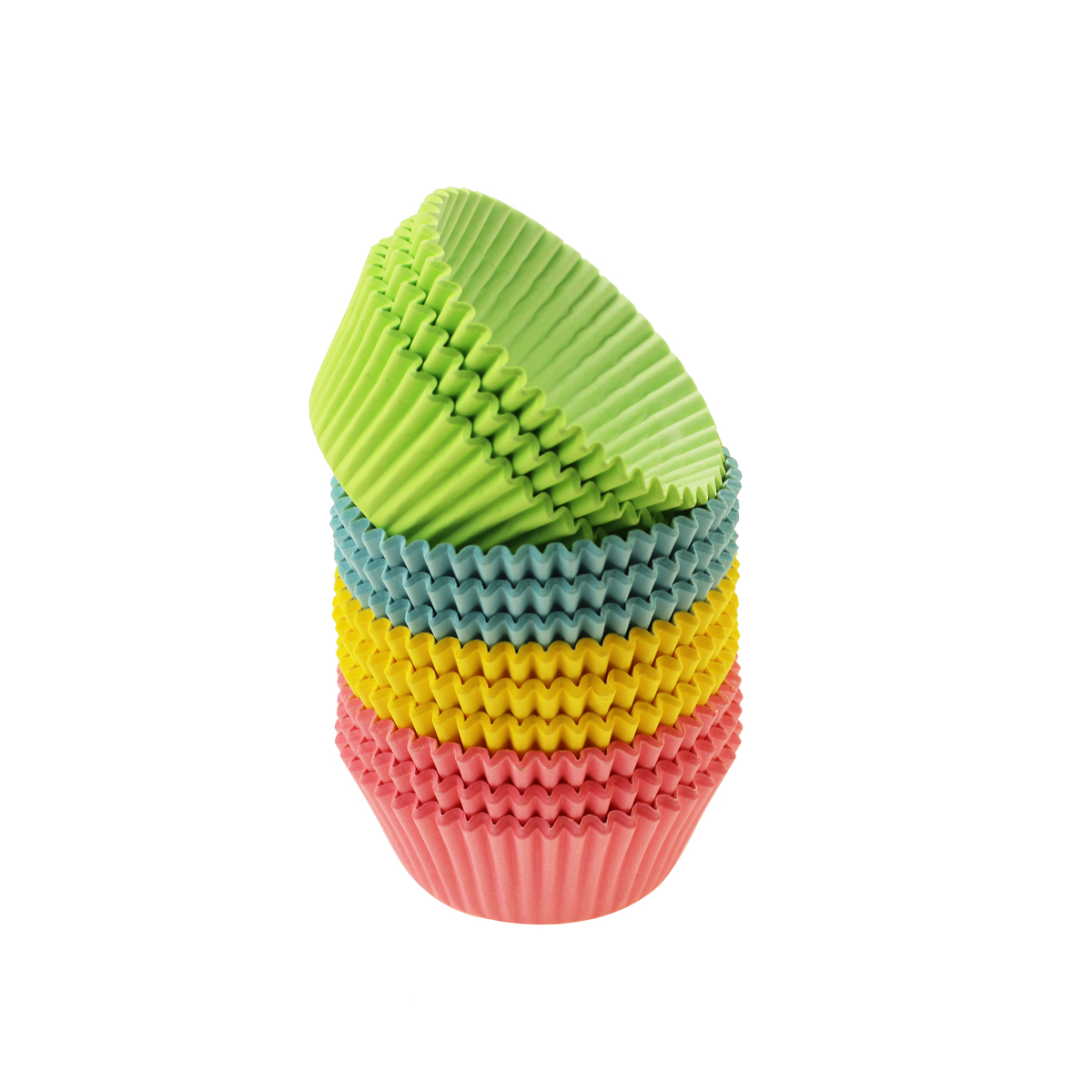 Rainbow colored baking cup