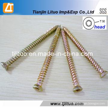 Tornillos de hormigón de la cabeza Torx-30 del tornillo concreto galvanizado