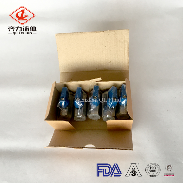 sanitary stainless steel female mini ball valve 7