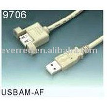 USB2.0 AM-AF PANEL MOUNT EXTENSION CABLE(9706)