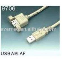CABO DE EXTENSÃO DE MONTAGEM DE PAINEL AM-AF USB2.0 (9706)