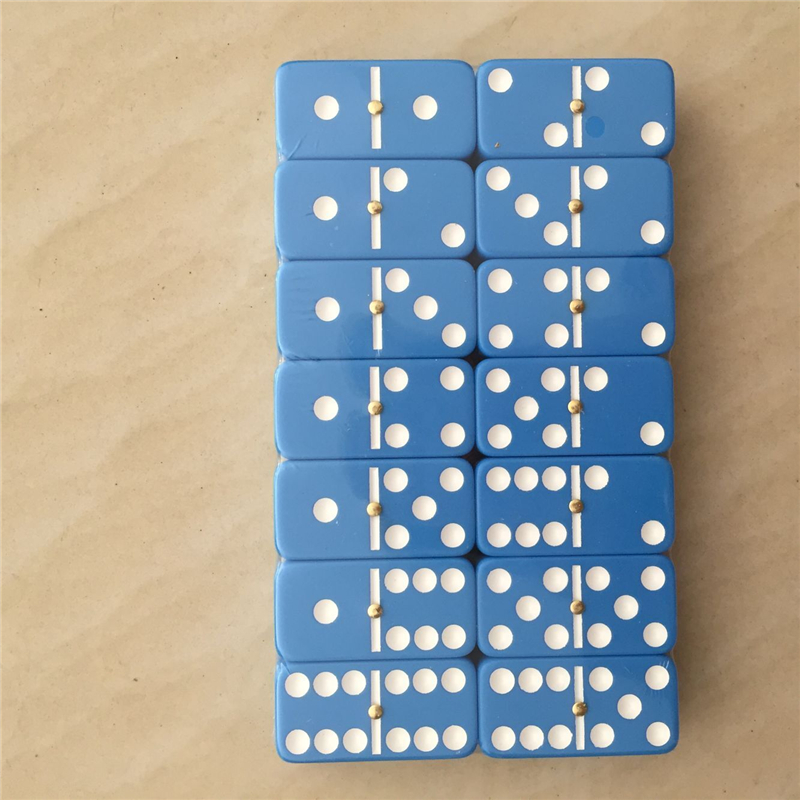 blue color melamine dominoes