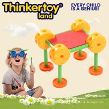 3D DIY cadeira edifício brinquedo vendendo quente para crianças