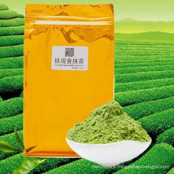 Poudre de thé vert Guanyin Matcha cravate d'emballées sous vide