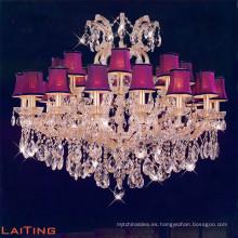 Lámpara de vela de cristal tradicional clásica de latón antiguo LT-12813