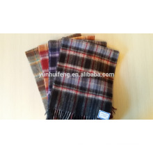 chiquenaude de laine de haute qualité de mongolie intérieure vérifie / couleur unie