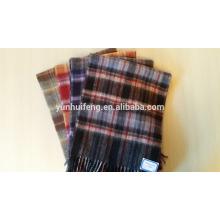 внутренняя Монголия высококачественной шерсти двухлобной шарф проверок/сплошной цвет