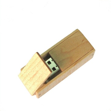Logo+Custom+Swivel+Wood+USB+Memory+Stick