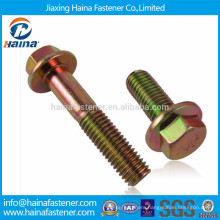 M8 M10 M18 Yellow Zinc plated carbon steel Hexagon bolt with flange