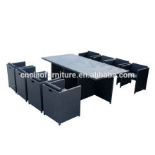 Best Selling Outdoor Furniture Cube Rattan Dining Set For 8