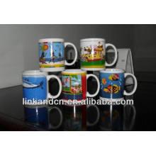 Haonai 11oz яркие полные керамические кружки кофе