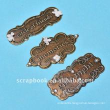 childhood friend metal charms scrapbook crafts