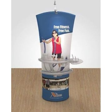 Floor Standing Angled Tension Fabric Stand Banner Stand