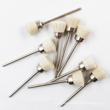 FREE SAMPLE FACTORY nail tool rotary copper wool brush for manicure drill