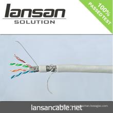 Lansan 4pair cat6 cable de la red del sftp 305m 23awg BC pase prueba de la solapa buena calidad y precio de fábrica