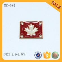 MC584 Diseñador de marca de ropa de costura etiqueta de ropa de metal