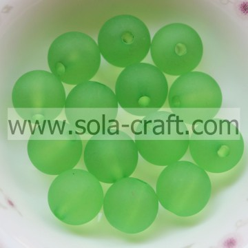 Green Color Loose 8MM Artificial Crystal Acrylic Ball Beads 1750PCS 0.5KG