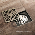 HIDEEP Bronze Brush Nickel Art Copper Floor Drain