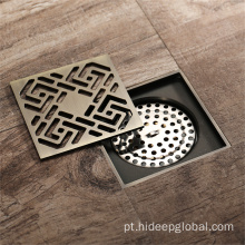 HIDEEP Escova de Bronze Níquel Art Copper Floor Drain