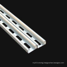 Hot galvanized steel C U type solar panel photovoltaic bracket for house roof/solar power station