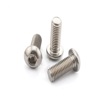 M3x6mm Stainless Steel Button Bolts Kepala
