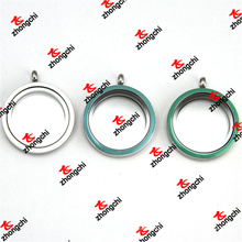 Fashion 30mm Enamel Color Glass Stainless Steel Lockets Pendant (LDO60129)