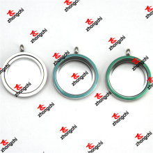 Мода 30 мм эмаль Цвет стекла из нержавеющей стали кулоны подвеска (LDO60129)