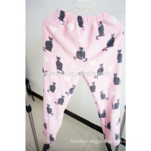 cute pattern printed soft fleece women sleep wear