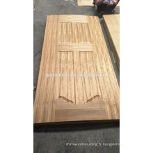 bois sculpté design porte en mélamine peau de placage