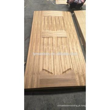 design de escultura em madeira pele de folheado de porta de melamina