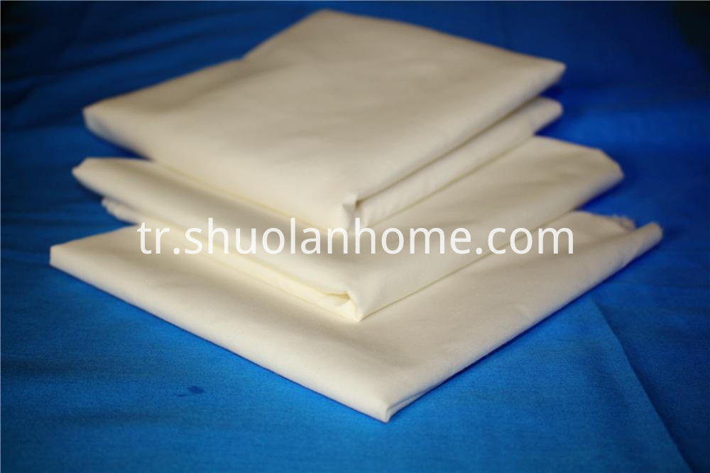 Cotton Polyester White Fabric