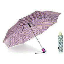 Bunte DOT 3 Falten Windproof Auto Regenschirme (YS-3FA22083962R)
