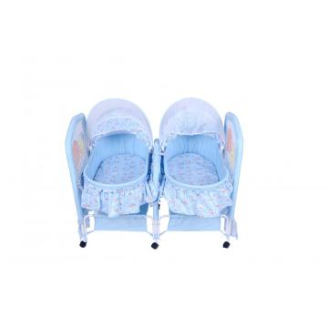 Rocking Independent Parallel Twins Baby Bed