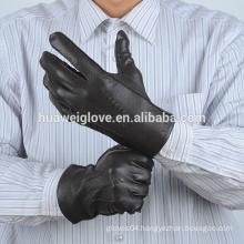 Men's Winter deerskin Gloves Leather custom embossed logo men gloves