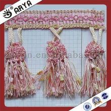 Garnitures pour rideaux et autres franges de bordure de décoration pour accessoires rideaux pour le marché de l'Inde