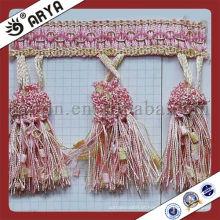Guarnições para cortinas e outras franjas de borla de decoração de casa para acessórios de cortina para o mercado da Índia