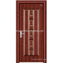 Alta qualidade porta blindada de aço forte da segurança (JKD-1016) porta para porta de madeira aço Exterior Design