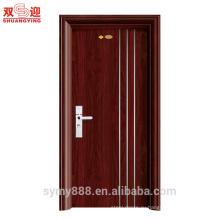Стальные межкомнатные ламинат главная двери из нержавеющей проволоки выбивая главным образом конструкция для гостиницы внутреннюю дверь