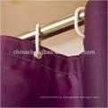 Poliéster impermeable púrpura baño ducha cortina conjuntos