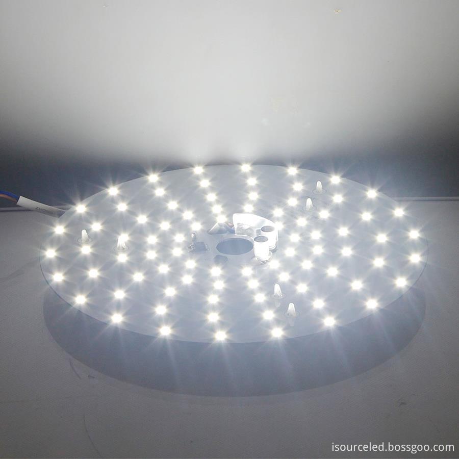 Led light engine module 24w bottom view product power-on luminous diagram