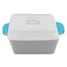 square casserole with silicone handles 2000CC