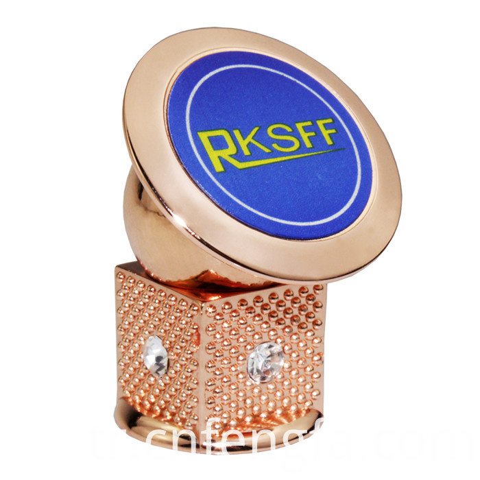Rose Gold Magnetic Phone Holder With Diamond