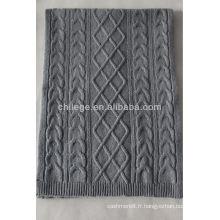 écharpe de kniiting de laine d'agneau de haute qualité
