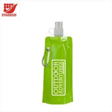 Bouteille d'eau pliante adaptée aux besoins du client promotionnelle sans BPA