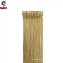 Silk Straight Natural Long 20inch Remy Human Virgin Hair Extension Flat Tip Hair