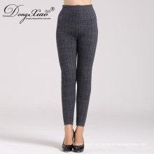 Pantalón largo de lana de mujer hasta los tobillos