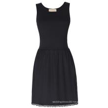 Kate Kasin Women's Comfortable Cotton &Satin Full Slip Undergarment Dress KK000262-1