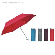 New Simple Folding Aluminum Umbrella Shaft with 6 Ribs/Compact Manual Mini Umbrella for Gift Promotion