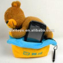 симпатичный плюшевый спящий Мишка игрушка держатель мобильного телефона